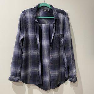 BDG Dark Blue Cotton Flannel